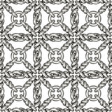 Seamless pattern of silver wire mesh or fence on white Stock Image