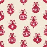 Seamless Pattern. Simple Christmas Ball. Seamless Pattern. Christmas Ball. Background Design Royalty Free Stock Photos