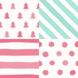 Seamless Pattern. Simple Christmas  Set. Seamless Pattern. Simple Christmas background Design Stock Photos