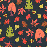 Simple flat forest pattern Stock Photos