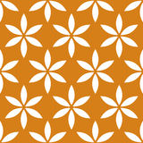 Seamless pattern with simple floral, flower motif Royalty Free Stock Photos