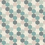 Seamless pattern with simple geometric forms. Repeated circles wallpaper. Abstract background with round vortexes. Seamless pattern with simple geometric forms Royalty Free Stock Photo