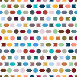 Seamless pattern with simple geometric shapes. Vector background Stock Photo