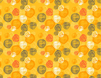 Seamless pattern of simple geometry. Retro-style illustration Royalty Free Stock Photos