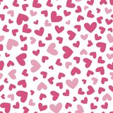 Seamless pattern with simple heart shapes stock illustration
