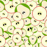 Seamless pattern with simple mosaic fruits. Stock Photography