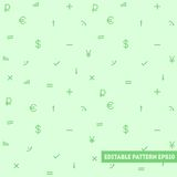 Seamless pattern with simple objects. At green background Royalty Free Stock Images