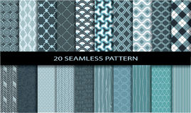 20 Seamless pattern Royalty Free Stock Images
