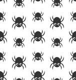 Seamless Pattern with Simple Spiders Royalty Free Stock Photos