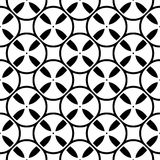 Seamless pattern, simple texture with bobbins. Vector monochrome seamless pattern. Simple black & white repeat geometric texture. Illustration of tapes, spools Stock Photo