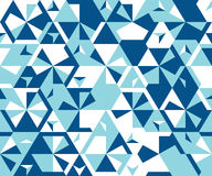 Seamless pattern from simple triangular elements. stock image