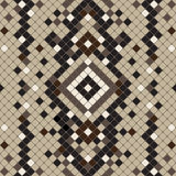 Seamless pattern simulating the skin of a snake. Royalty Free Stock Photography