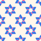 Seamless pattern with six-pointed stars. Stock Photography
