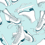 Seamless pattern of skates Stock Photography
