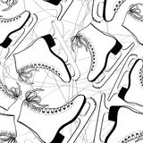 Seamless pattern of skates Stock Photo