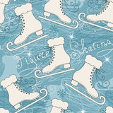 Seamless pattern with skates Stock Images
