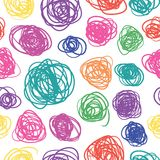 Seamless pattern with sketch Stock Photography