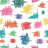 Seamless pattern with sketch Stock Image