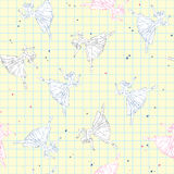 Seamless pattern with sketch ballerina Royalty Free Stock Images