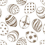 Seamless pattern of sketch Easter eggs royalty free illustration