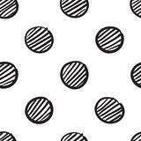 Seamless pattern from sketch point, circle Stock Photos