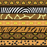 Seamless pattern with the skins of African animals Royalty Free Stock Image