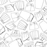 Seamless pattern with skirts. Vector illustration Stock Image