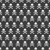 Seamless pattern. Skull and crossbones texture. Vector illustration Stock Images
