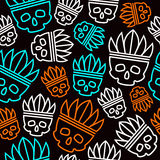 Seamless pattern skull Royalty Free Stock Photo