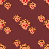 Seamless pattern with  skull Stock Photo