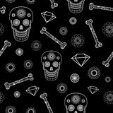 Seamless Pattern with Skull Royalty Free Stock Photography
