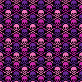 Seamless pattern with skull Royalty Free Stock Photo