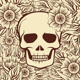 Seamless pattern with skull, vector Royalty Free Stock Photos