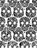 Seamless pattern with skulls Stock Images