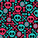 Seamless pattern with skulls Royalty Free Stock Image