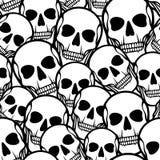 Seamless pattern with skulls Stock Photo