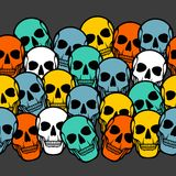 Seamless pattern with skulls Stock Photography