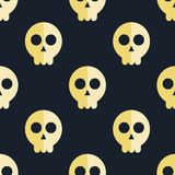 Seamless pattern skulls background Royalty Free Stock Photos