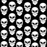 Seamless pattern from skulls on black background Royalty Free Stock Image