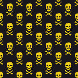 Seamless pattern with skulls Stock Photos