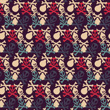 Seamless pattern with skulls and bones Stock Image