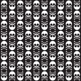 Seamless pattern with skulls and bones. Vector seamless pattern with skulls and bones black background. eps 10 stock illustration