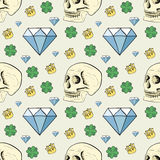 Seamless pattern with skulls Royalty Free Stock Images