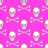 Seamless pattern with skulls Royalty Free Stock Photos