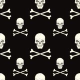 Seamless pattern with skulls Stock Image