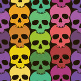 Seamless pattern of skulls Royalty Free Stock Images
