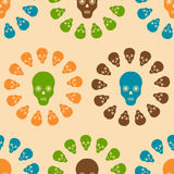 Seamless pattern with skulls. For textiles, interior design, for book design, website background Stock Photo