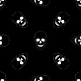Seamless pattern with skulls. Royalty Free Stock Photography