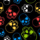 Seamless pattern with skulls. Stock Image