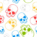Seamless pattern with skulls. Royalty Free Stock Image